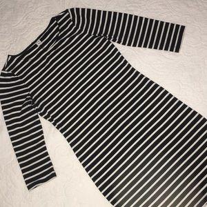 Black/White Striped Mini Dress